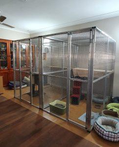 aluminium cat cage